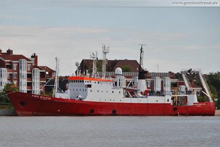 Vermessungsschiff Fugro Mercator am Bontekai