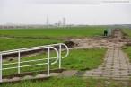Baustelle JadeWeserPort: Ehemaliger Haupteingang Geniusstrand