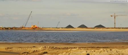 Panoramabild von der Baustelle JadeWeserPort in Wilhelmshaven
