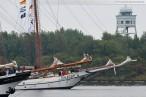 Wilhelmshaven: Einlaufparade am Ende der JadeWeserPort-Cup Regatta 2010