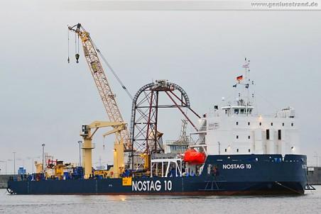 Barge Nostag 10 der Norddeutschen Seekabelwerke in Wilhelmshaven