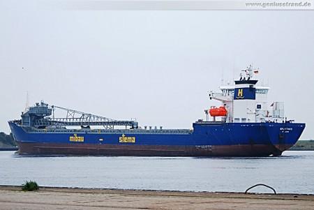 Frachtschiff Splittnes der Mibau-Stema