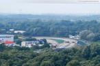 Blick über die JadeWeserPort Baustelle im Oktober 2010