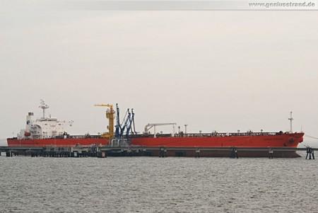 Tanker Eagle Stealth an der NWO-Pier