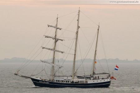 Segelschiff Pedro Doncker auf der Jade