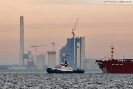 Wilhelmshaven: GDF Suez Kraftwerksneubau von Seeseite