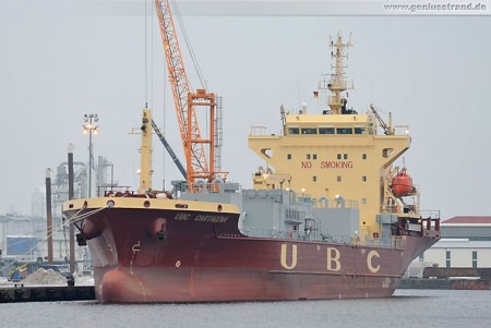 Zementfrachter (Pneumatic Cement Carrier) UBC Cartagena am Südwestkai