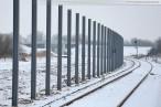 Gleisanbindung JadeWeserPort: Montage der neuen Lärmschutzwand