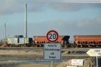Bilder vom JadeWeserPort: Gleisbaustelle und Spülfeld
