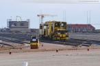 Bilder von der Gleisbaustelle am JadeWeserPort