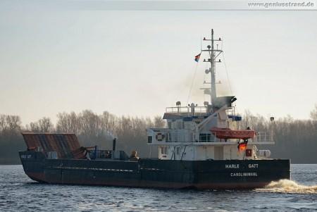 Inselversorger Harle Gatt im Nordhafen von Wilhelmshaven