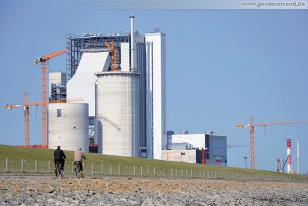 Kraftwerksneubau der GDF Suez im Rüstersieler Groden