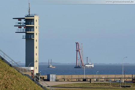 Wilhelmshaven: Errichtung der Richtfeuerlinie Jappensand (Rochen und LVP I)