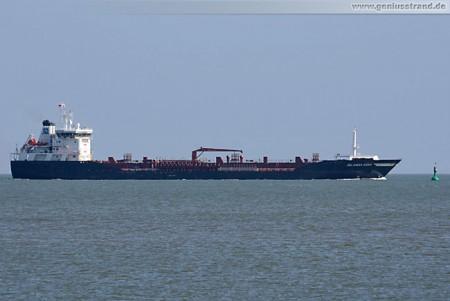 Tanker Selandia Swan wird 15.000 t schweres Heizöl an der WRG löschen