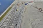 Luftbilder der 16-gleisigen Vorstellgruppe am JadeWeserPort