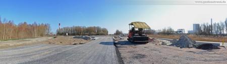 Ausbauende der Autobahn A 29 - Blick in Richtung zukünftigen Kreisverkehr