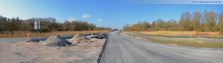 Ausbauende der Autobahn A 29 - Blick in Richtung Friesendamm