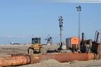Am Spülfeld der JadeWeserPort Baustelle