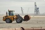 JadeWeserPort: Bilder vom westlichen Bereich der Hafenbaustelle