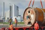 KW-Baustelle Wilhelmshaven: Tunnelbohrmaschine wird abtransportiert