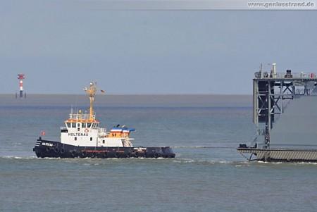 Schwimmdock Neubau Dock Bravo erreicht Wilhelmshaven