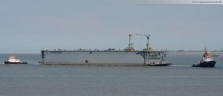 Schwimmdock Neubau Dock Bravo (Dock B) erreicht Wilhelmshaven