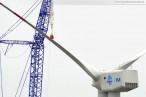 Hooksiel: Arbeiten an der Nearshore-Windkraftanlage Bard VM
