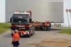 Schwertransport: Ammoniaktanks für die GDF Suez Kraftwerksbaustelle