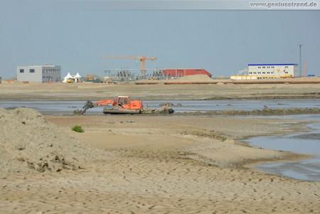 Bilder von der Baustelle JadeWeserPort - Mai 2011