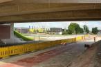 Autobahnverlängerung A 29: Autobahnbaustelle an der Flutstraße