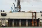 Wilhelmshaven: JadeWeserPort Baustelle von Seeseite Juli 2011
