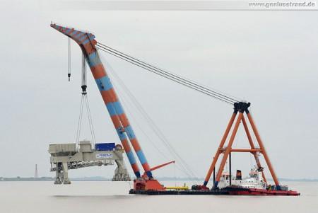Schwimmkran Samson - Einer der größten Schwimmkräne Europas