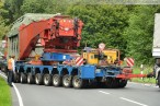 Schwertransport bringt Transformator zum Umspannwerk Maade