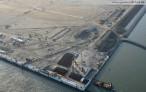 Wilhelmshaven: Luftaufnahmen vom JadeWeserPort November 2011
