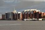Wilhelmshaven: Blick über den Großen Hafen Richtung Helgolandhaus