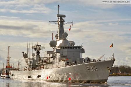 Ausrüstungshafen Wilhelmshaven: Belgische Fregatte Louise-Marie (F 931)