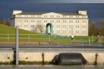 Wilhelmshaven: Blick über den Wangeroogkai auf das Minenlagerhaus
