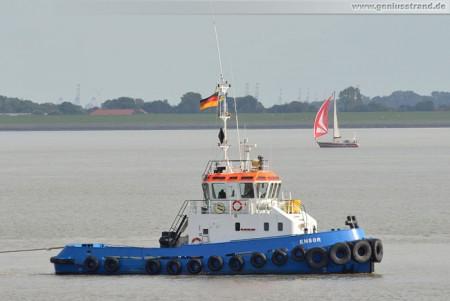 Wilhelmshaven: Schlepper Ensor auf der Jade