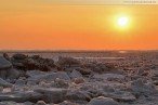 Winterbilder Wilhelmshaven: Eisschollen am Südstrand 2012