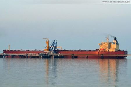 Tanker NS Clipper löscht 61.500 t Rohöl in Wilhelmshaven