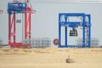 Baustelle Container Terminal Wilhelmshaven - Containerkran Künz