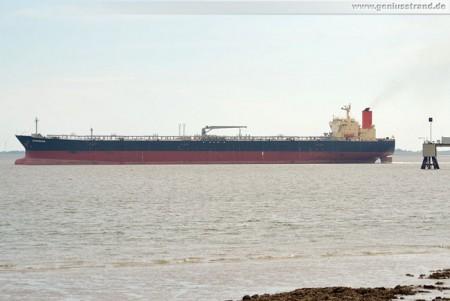 Tanker Guanabara brachte 80.000 t Erdöl zur NWO Wilhelmshaven