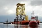 Wilhelmshaven: Fundament für den Offshore-Windpark Nordsee Ost