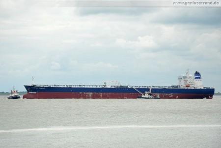 Tanker Olympiysky Prospect löschte 100.170 t Erdöl an der NWO