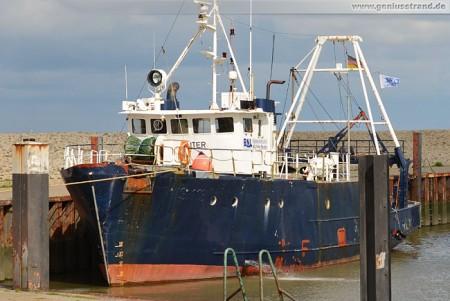 Tauch- & Expeditionsschiff Fritz Reuter im Hooksieler Außenhafen