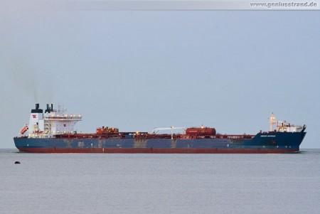 Wilhelmshaven: Tanker Navion Hispania löscht 51.000 t Erdöl an der NWO