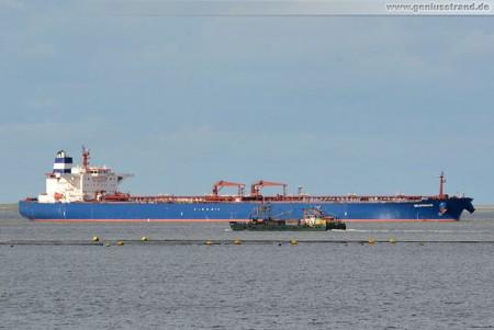 Tanker Seaprince löscht 135.671 t Erdöl aus Libyen in Wilhelmshaven