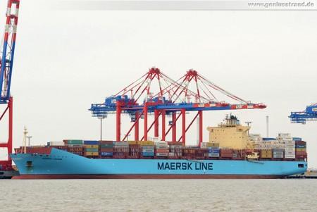 Containerschiff Maersk Laguna am JadeWeserPort in Wilhelmshaven