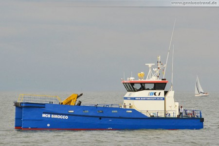 Mehrzweck-Arbeitsboot MCS Sirocco des Maritime Craft Services