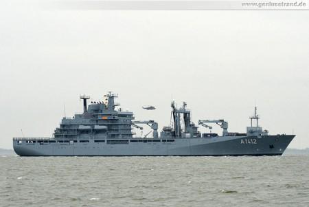 Wilhelmshaven Marine: Einsatzgruppenversorger Frankfurt am Main (A 1412)